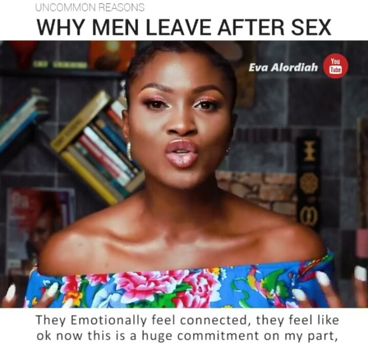 Eva Alordiah Reveals Reasons Why Men Leave After S*x – (Watch Video)