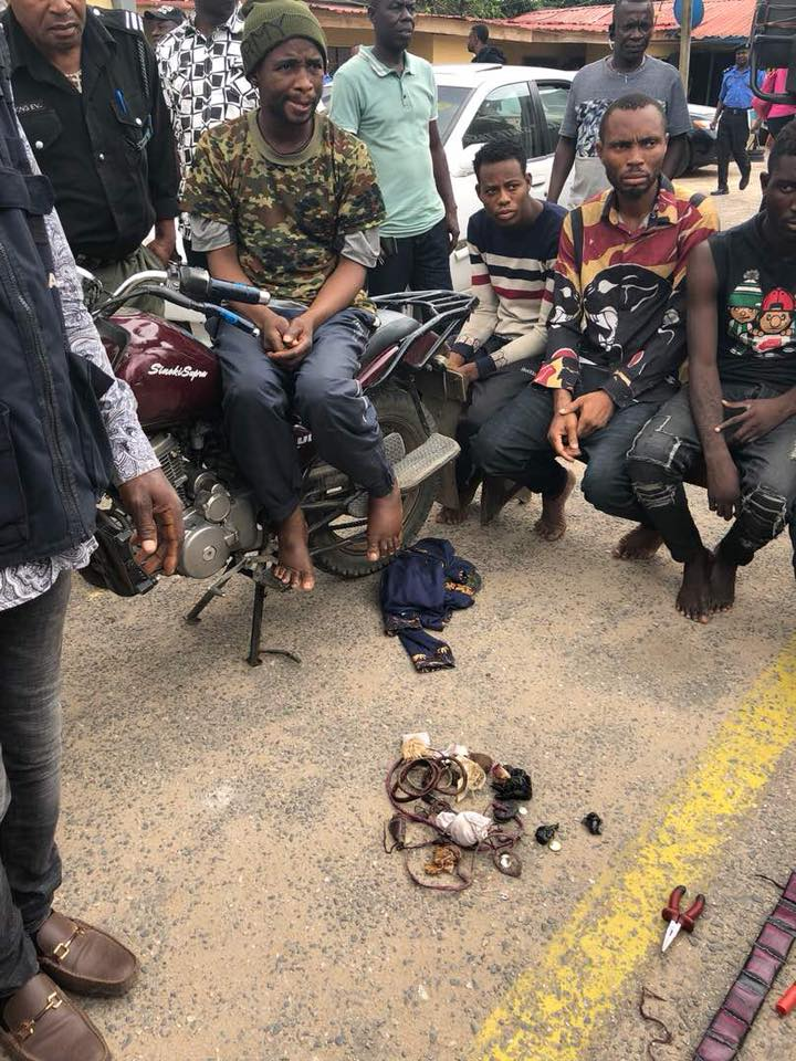 see Face of the Most Powerful Bike Man In Lagos, Who Dressed as Soldier and Robs His Passengers (Photos)