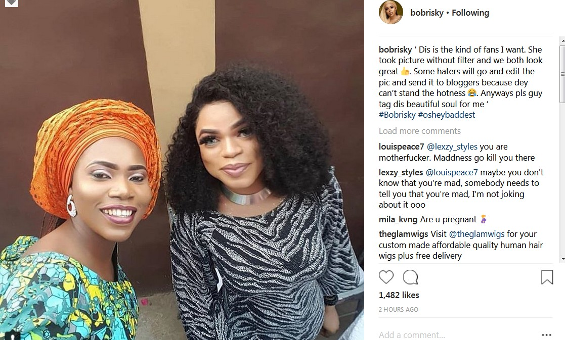 Bobrisky Is Pregnant, Her/His Baby Bump Is Growing Faster (See Photos)