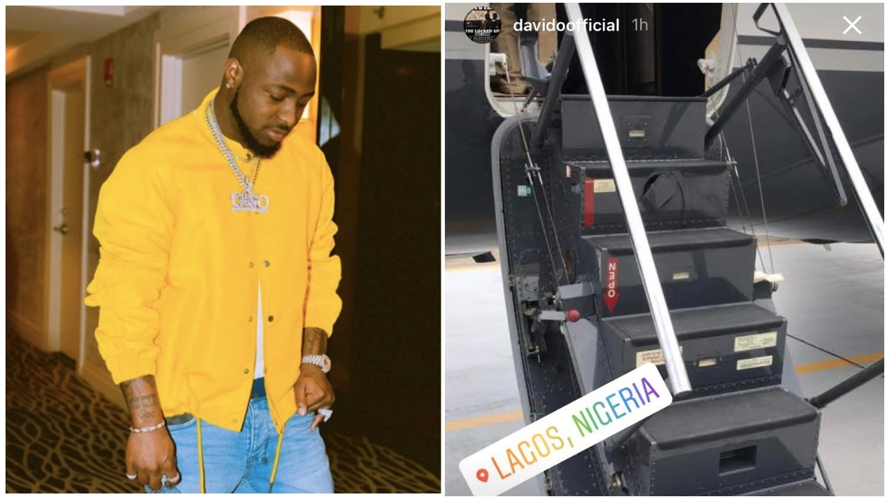 Davido's Most Anticipated Private Jet Arrives Nigeria (Photos)
