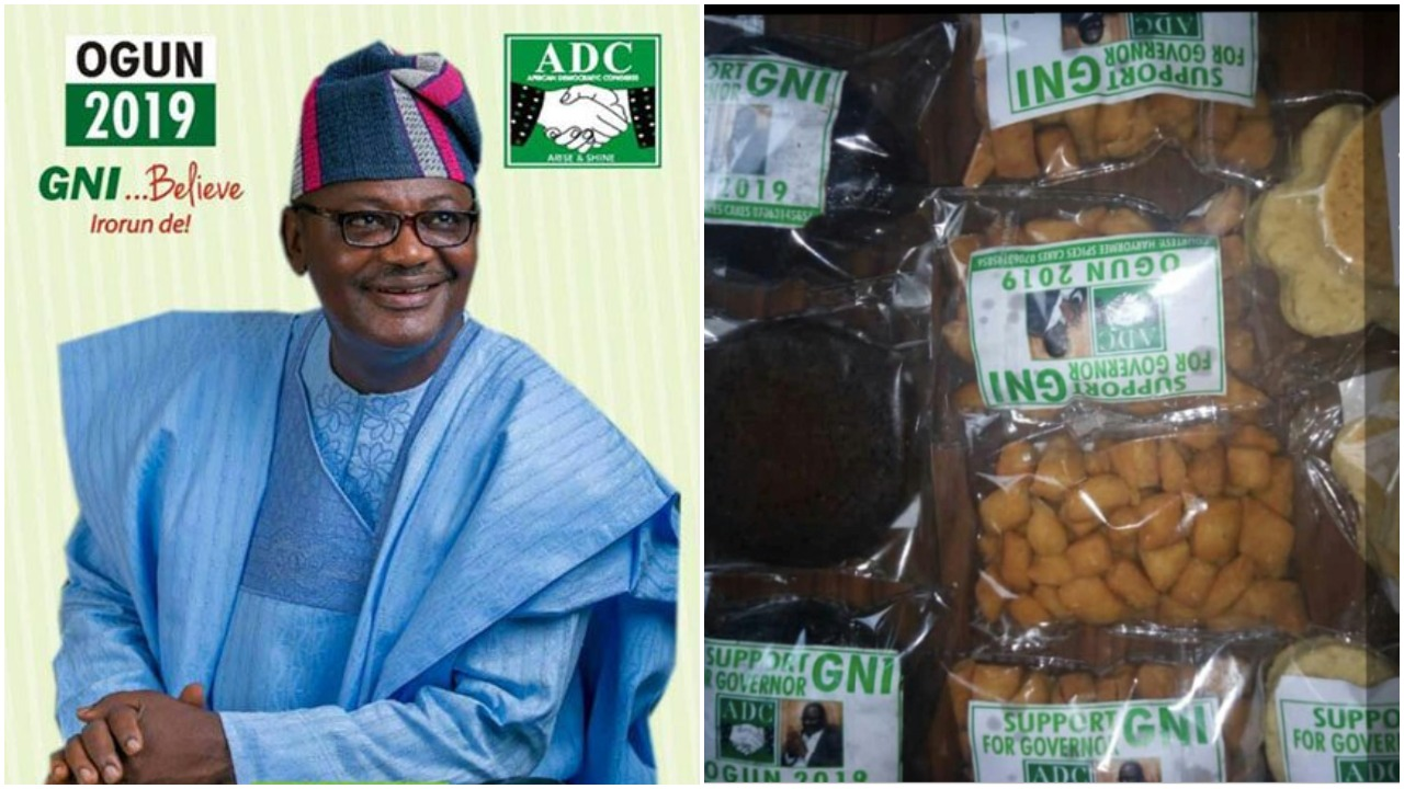 Such a Disgrace! Ogun Governorship Aspirant Shares Chin-Chin To Buy Vote