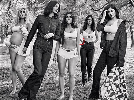 There's An 'Epic Photoshop Fail' In This Kardashian/Calvin Klein Campaign… World Reacts