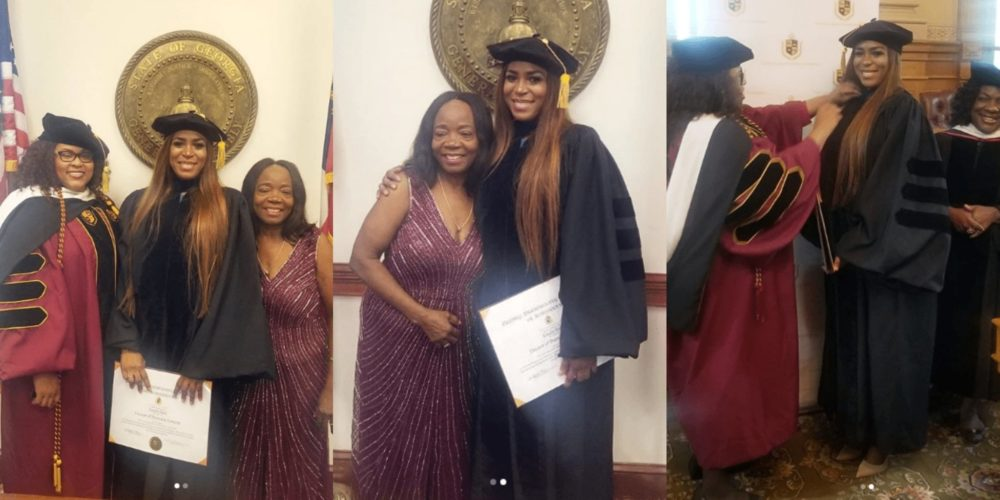 See Photos Of Linda Ikeji As She Receives Honorary Doctorate Degree From American University