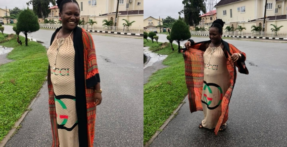 After Five Failed Attempts, Nigerian Lady Disguises As A Pregnant Woman To Get Her PVC Fast (Watch)