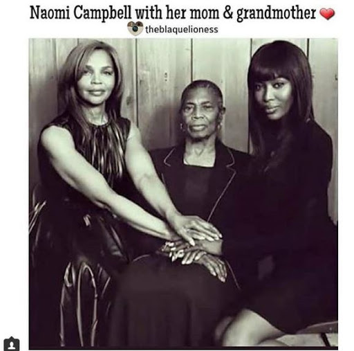 Naomi Campbell Shares Ageless Photo of Herself, Mom and Grandmom (See photo)