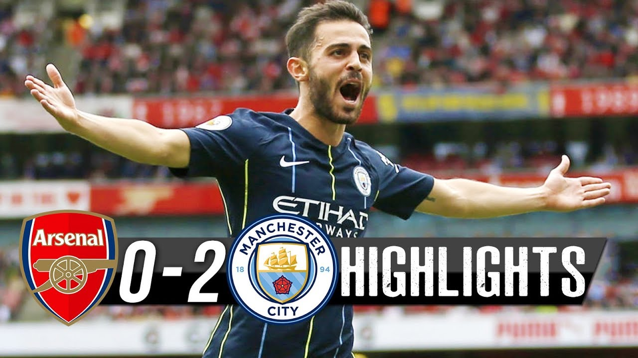 Arsenal 0 - 2 Manchester City [Premier League] Highlights 2018/19