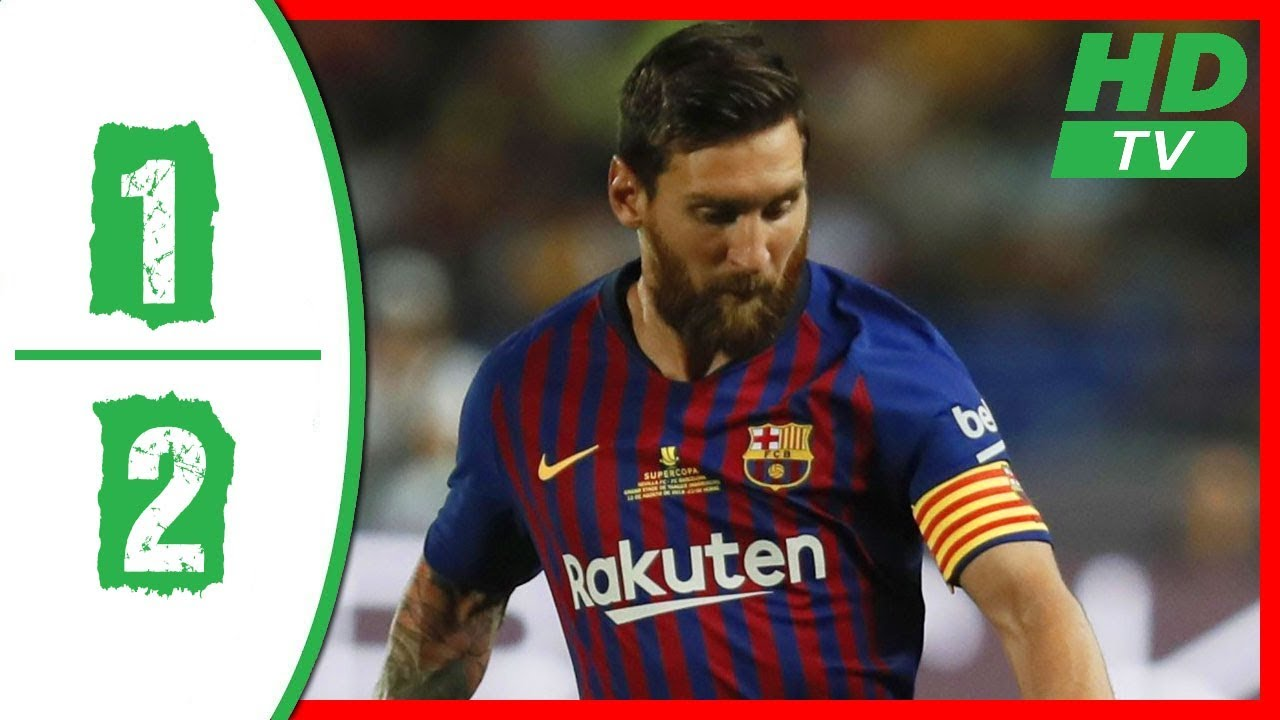 VIDEO: Sevilla 1 - 2 Barcelona [Super Cup] Highlights 2018/19 mp4 download