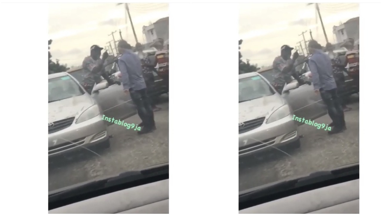 Chinese Man Punches A Nigerian Man Who Bashed His Car