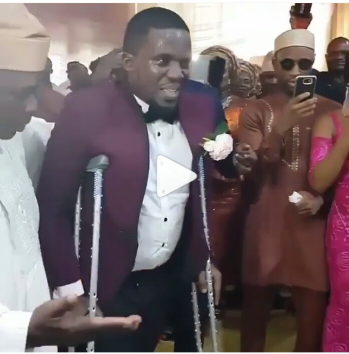 Bride Dances For His Husband Who Uses Crutches On Their Wedding Day