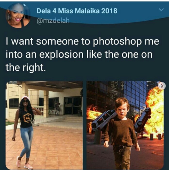 Lady Requested Anyone To Photoshop Her Into An Explosion…. She Got Something Else In Return (Photos)