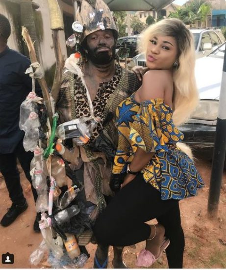 Nollywood Actress, Destiny Etiko Strikes Hot Pose With 'Mad Man' (See photos)