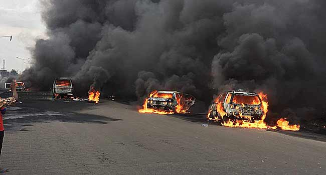 SO TRAGIC! 30 Houses Burnt, Shops With Goods Worth Millions on Fire As Tanker Explodes In Niger