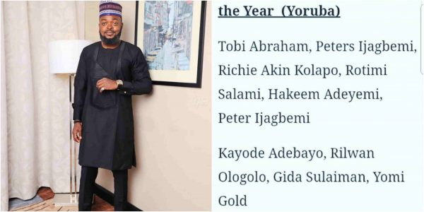 Yomi Gold Angrily Blast Magazine For Nominating Him As A Promising Actor