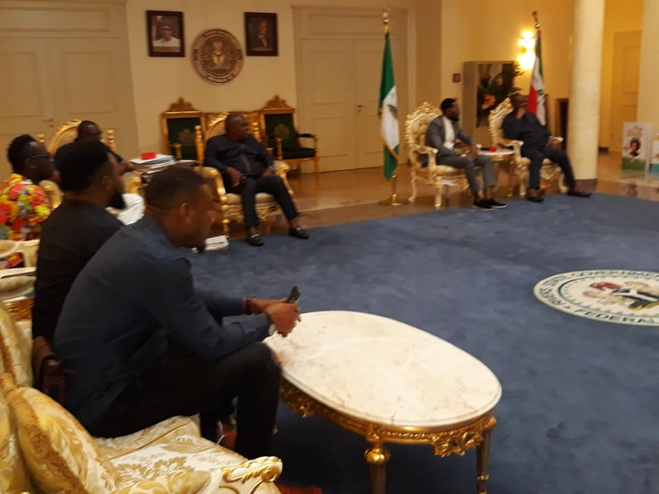 Photos: Gov. Wike Hosts D'Banj And Duncan Mighty At Rivers Government House