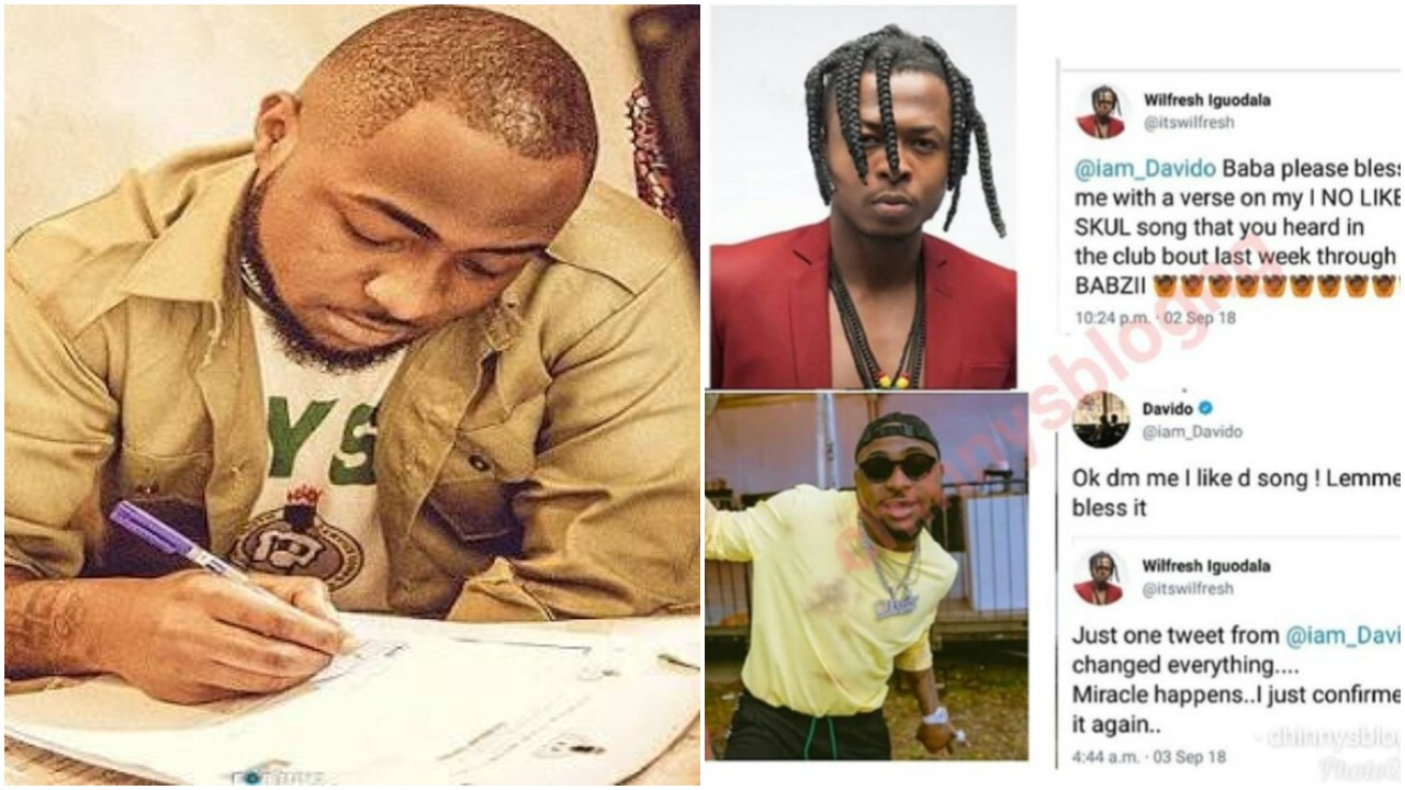 How Corper Davido Changed The Life Of An Upcoming Artist