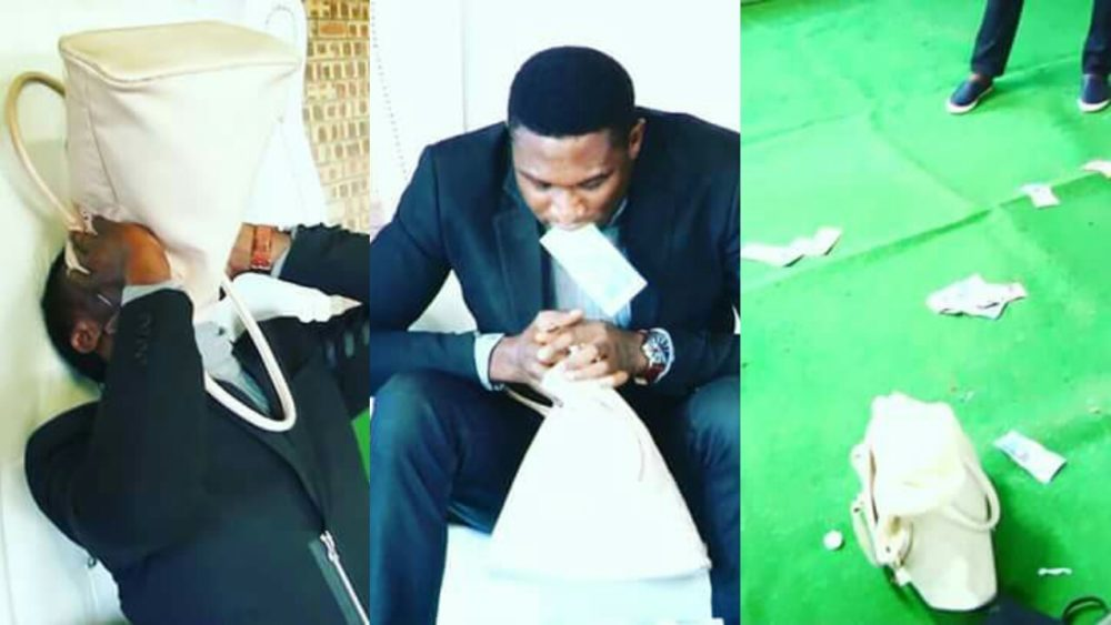 Nigerian Pastor Vomits Miracle Money During Service