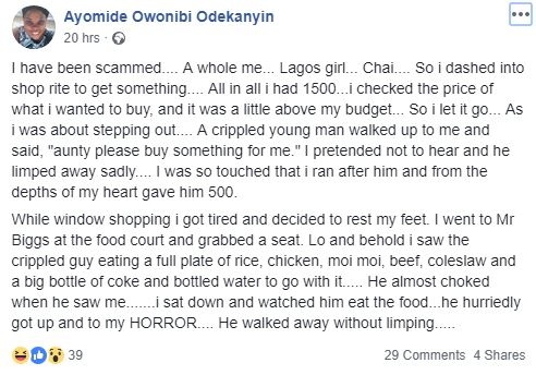 Slay Queen Reveals How She Was Scammed in the Strangest Way Yesterday in Lagos