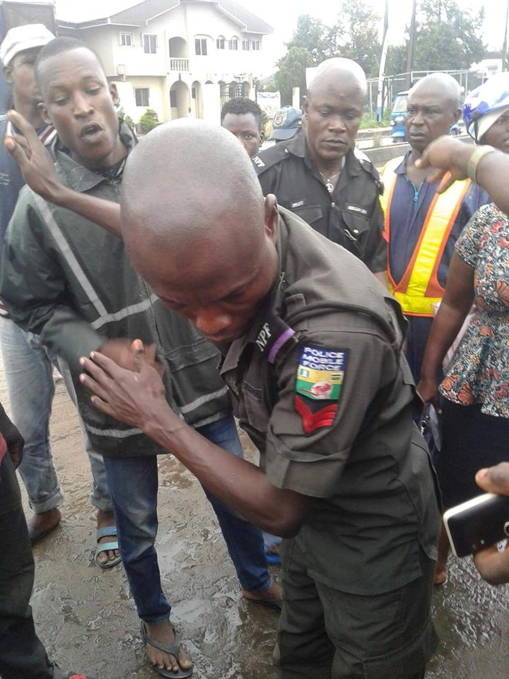 Overzealous Police Officer Almost Beaten By Angry Residents In Delta