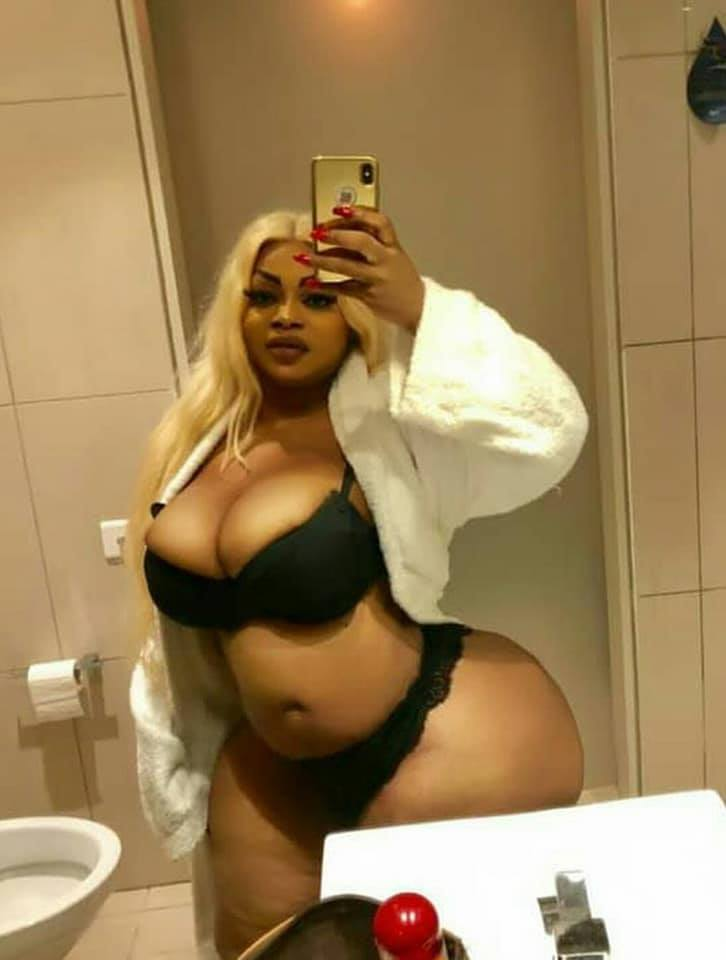 Lady Who Claims To Have The Biggest Bum In Africa Shares Underwear Pictures