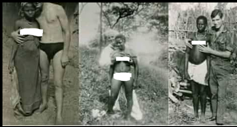 Throwback Pictures Of White Men Holding The B.reasts Of African Slaves (Photos)