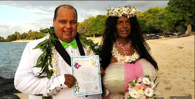 Lady Who Turned Herself Black And Got B.reast Implants Marries Childhood Sweetheart