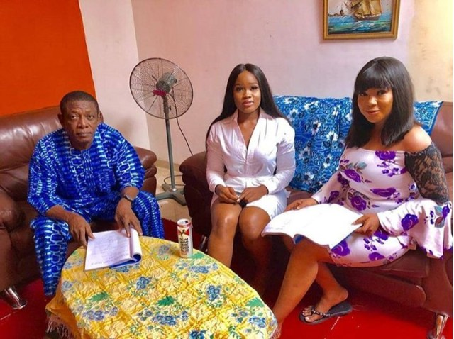 Cee-C Makes Nollywood Debut, Pictured On