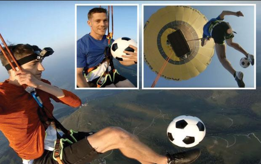 Freestylers Take Their Football Skills To New Heights As They Perform 3000M In The Air