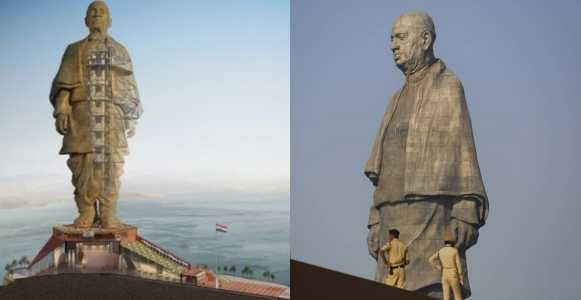 "India unveils world's tallest statue ""Statue of Unity"""