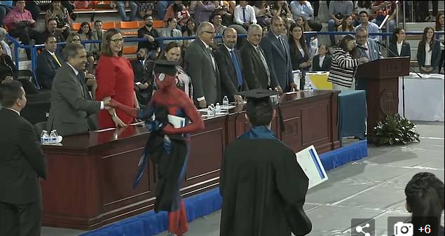 Law Student Dresses Up As Spiderman To Accept His Degree