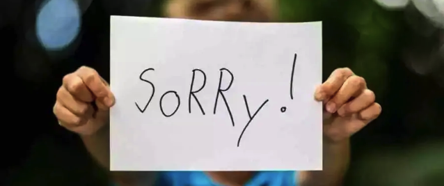 thanks for accepting my apology sms