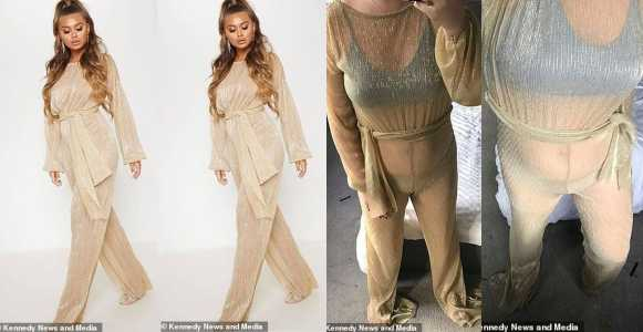 See The £35 Jumpsuit Lady Ordered And See What She Received (Photos)