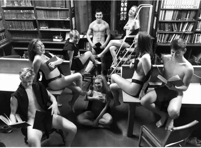 Outrage As Oxford Students Pose Nakked For Pictures In University Library