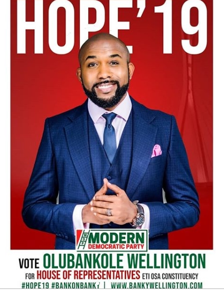 I'll Publicly Declare My Assets If Elected, I Support State Police – Singer, Banky W