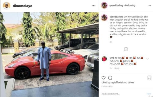 """Dino Melaye's wealth is suspicious"" – Speed Darlington"