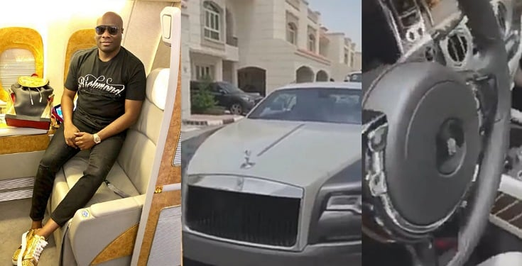 Mompha Shows Off His New Rolls Royce Wraith Eagle VIII 2020 (Video)