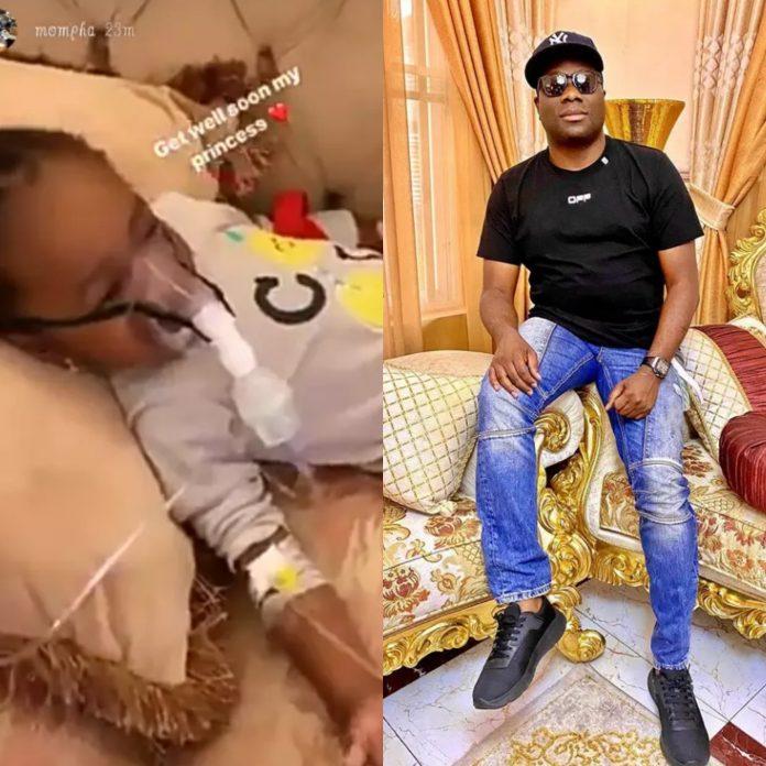 Coronavirus? Photos Of Billionaire Mompha's Sick Daughter Using A Ventilator At Home Raises Fears