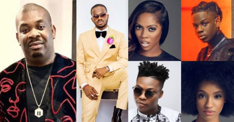 Don Jazzy, Korede Bello, Tiwa Savage, Reekado Banks and Di'ja