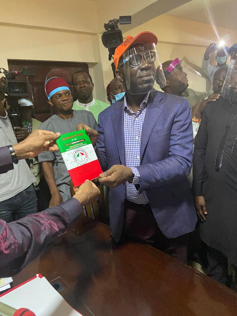 Edo State Governor, Godwin Obaseki Formally Joins PDP