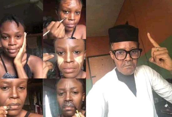 Makeup Artist Made Her Face Look Like Buhari (Photos)