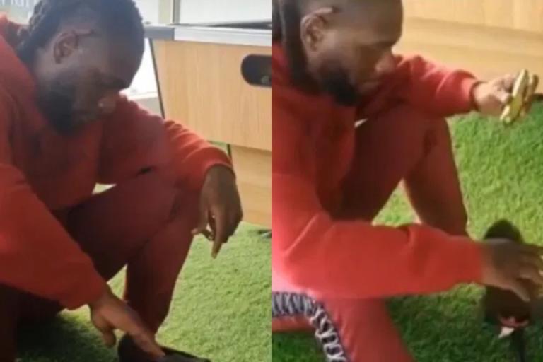 """Burna boy flaunts his new pet named """"seven"""" (Video)"""