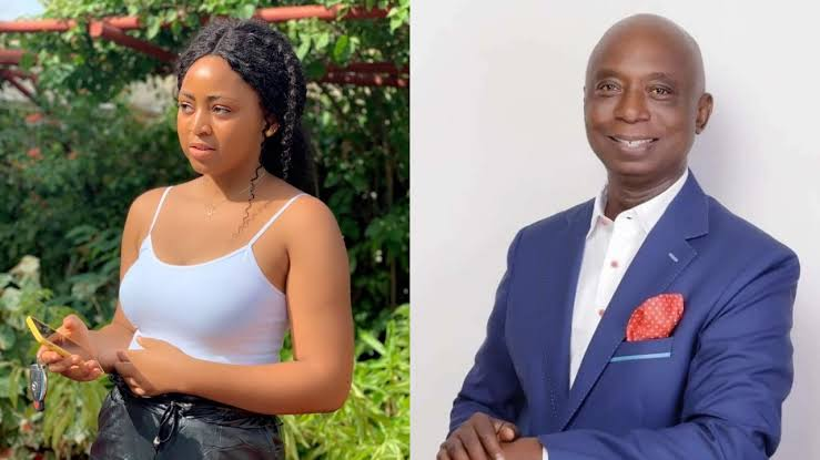 Regina Daniels' Father reveals reasons He Attended His Daughter's Baby's Naming