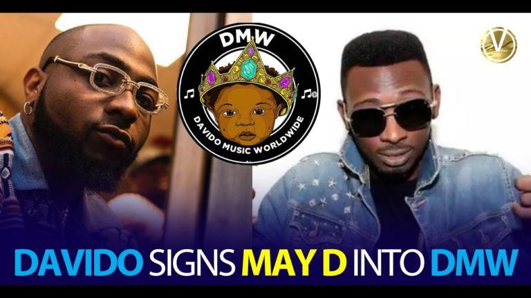 Davido signs MAY D to DMW!!!
