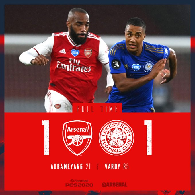 Arsenal vs Leicester 1-1 – Highlights [DOWNLOAD VIDEO]