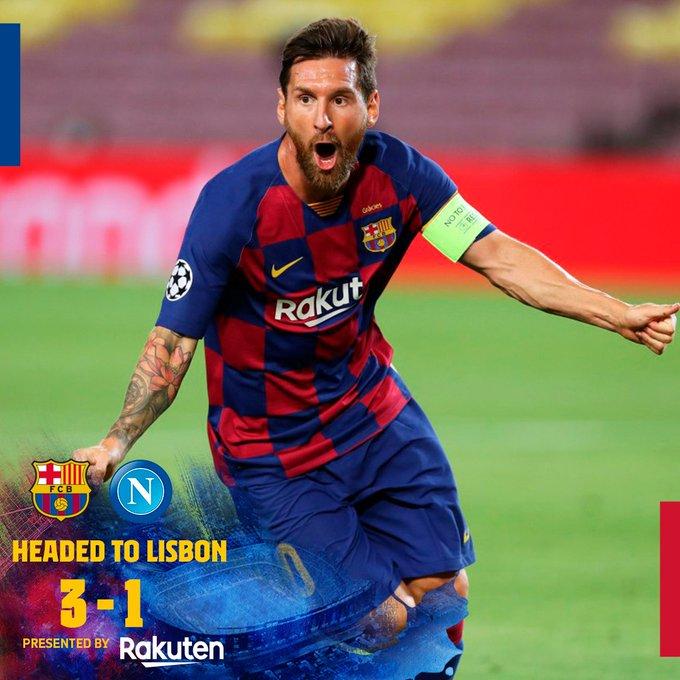 Barcelona vs Napoli 3-1 (AGG 4-2) – Highlights [DOWNLOAD VIDEO]
