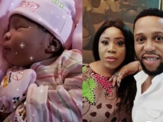 Nine years after, Omobolanle and wife welcomes a baby girl
