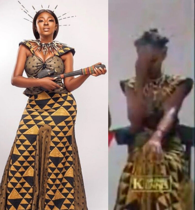 Yvonne Jegede redesigned her dressed she wore in African Queen Video