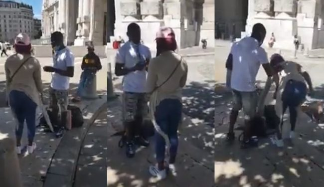 Lady rejects proposal because her BF refused to kneel  down (Video)