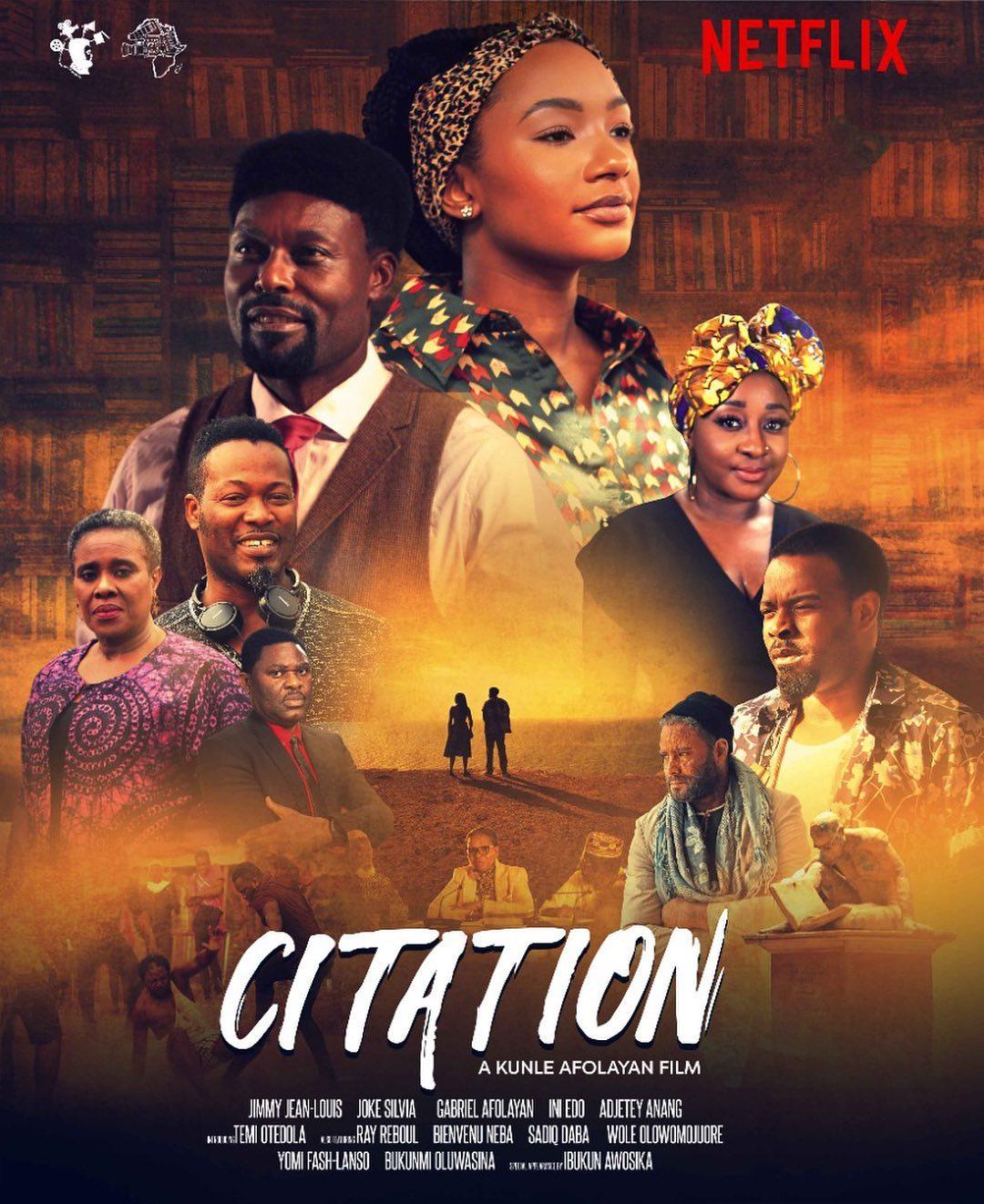"Netflix acquires Kunle Afolayan ""Citation"" movie"