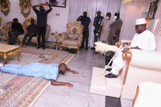 Davido pays courtesy visit to Oba Oniru of Iruland