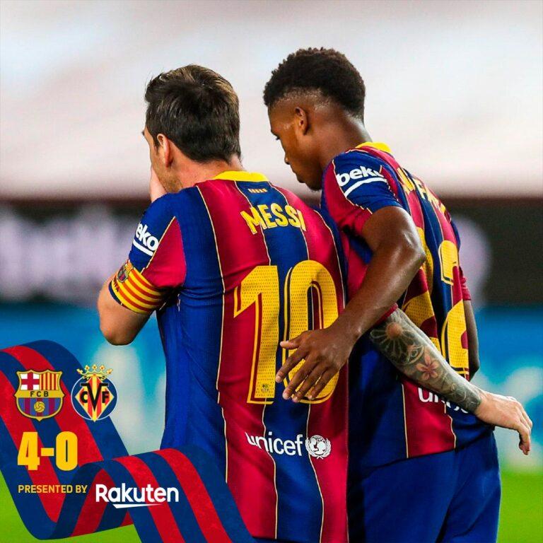Barcelona vs Villarreal 4-0 – Highlights [DOWNLOAD VIDEO]